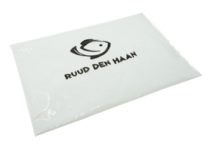 Printed gel pack from fish shop Ruud Den Haan
